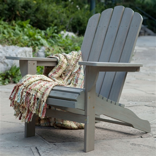 Eco-Friendly Eucalyptus Wood Outdoor Adirondack Chair in Driftwood Finish, BLDAC45518 :  Give your patio or deck a beach-like feel with this Eco-Friendly Eucalyptus Wood Outdoor Adirondack Chair in Driftwood Finish. The chair is constructed of ecofriendly eucalyptus wood that's weather resistant to allow for year-round use. With its comforting design and wide armrests, the chair offers the perfect place to sit back and relax for hours with a refreshing drink and an enthralling book. Stainless-steel hardware is included for assembly to provide strong joints that will help the chair last for years. Requires basic maintenance with easy care; Commercial Grade No Component; Maximum Weight Capacity 400 lbs. Feature Comfort Back; Surface Stained.