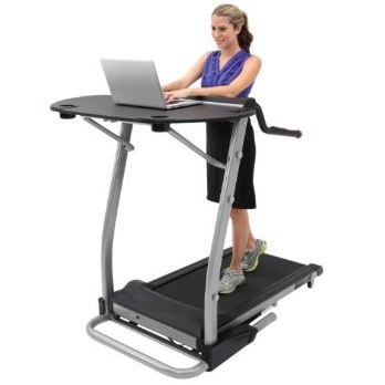 "This Treadmill Desk Computer Workstation with Safety Handles is an effective way to burn extra calories and achieve a healthy lifestyle. Now, lose those calories and lose weight at the same time, while you work on your computer, talk on the telephone, read your favorite book, read on your iPad, or Kindle by just walking on the Exerpeutic 2000 Desk Station Treadmill . In fact, burn 4 to 5 times the calories, up to 500 extra calories, than if you were just sitting at your desk or couch doing the same things. You can cruise the internet, check and reply to your emails without ever changing your schedule or routine and at the same time getting fit and healthy. Forget about those afternoon work blues. Working while walking will boost your energy levels and increase your productivity throughout the day. Your treadmill will become your work station and as a result you will use it all the time. Just simple walking on your Exerpeutic 2000 Desk Station Treadmill, can improve your mental alertness, heighten creativity, fight depression, increase daily productivity and can even improve your overall wellbeing. * Tested up to 400lbs of user weight. 4ft x 2ft Desktop can take up to 50 lbs of weight. * 1.5 HP ""Quiet Drive"" Motor which reduces any noise when walking and working * Measure your heart rate using the pulse sensor pads * Treadmill belt is Fitness Club wide measuring 20""W x 40""L * 18"" Extra-long safety handles with convenience buttons for speed and incline. *Speed Range starts at .4mph and up to 4 mph via .1 mph increments *Power Incline adjustment range from 0% to 15% * Treadmill and desk fold for storage *Computer display window that features elapsed time, distance walked, calorie burn, speed and heart pulse monitoring. * Desk accessories include 2 cup or article holders, an AC outlet station and a pre-drilled hole for cords *Large enough to accommodate a full size keyboard, monitor, mouse couple of peripherals and a phone. Extra long safety handles are 18? long, more than 2 X the length of other typical treadmill handles."