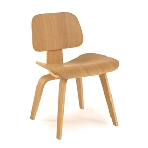This Plywood Modern Classic Dining Chair with Gently Curved Legs features slightly indented top and gently curved legs, and lightweight and very strong.