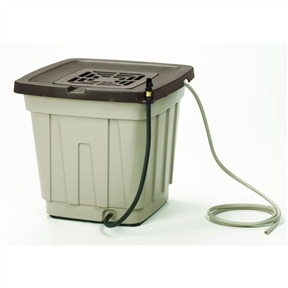 Durable Resin 50-Gallon Rain Barrel with Leader Hose, S50GRB8349 :  This Durable Resin 50-Gallon Rain Barrel with Leader Hose would be a great addition to your home. Also, it holds up to 50 gallons of water. No assembly required; Includes leader hose and shut-off valve.