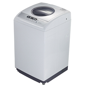120V 2.1 Cubic Foot Top Loading Washing Machine Laundry Washer, MEW430851 :  This 120V 2.1 Cubic Foot Top Loading Washing Machine Laundry Washer would be a great addition to your home. It has two water inlets and is made of steel and plastic. Top Loading Washer; Cabinet material: Steel; Basement material: Plastic; Water inlets: 2; Electronic type of water level selector; STS inner tub; Normal pulsator type; LED display; Spin Speed: 800 rpm; Cycles: 6; Water Levels: 6; CSA Certification; 2 Years Manufacture Warranty; 41 Normal washing time (min); Noise: 72 dB; Input Power: 400 Watts; Voltage: 120 V; Frequency: 60 HZ; Capacity: 2.1 Cu. Ft.  Product Type: Top loading washer; Water Levels: 6; Washer Power Type: Electric; CSA Certification: Yes; Control Type: Electronic; Finish: White;  Drum Material: Stainless steel; Number of Wash Cycles: 6; Wash Cycles: Rinse and spin; Adjustable Water Level: Yes; Wattage: 400 Watts (W);  Voltage: 120 Volts (V); Frequency: 60 Hertz; Washer Capacity: 2.1 Cubic Feet; Country of Manufacture: China.
