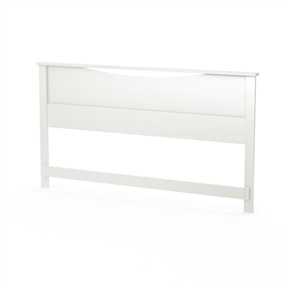 "This King size Contemporary Headboard in White Wood Finish with its geometric lines and European-inspired style will add elegance to the bedroom. Designed to be attached to King size Contemporary Headboard in White Wood Finish a standard king (78"") metal bed frame. Also available in Pure Black or Chocolate finish. Measures 88-1/4-inch wide by 3-inch long by 44-inch high. Delivered in 1 box measuring 94-3/4 in. by 16-1/4 in. by 2-3/4 in. and weighing 60 lbs. The back surface is not laminated. Accessories not included. Manufactured from certified Environmentally Preferred laminated particle panels."