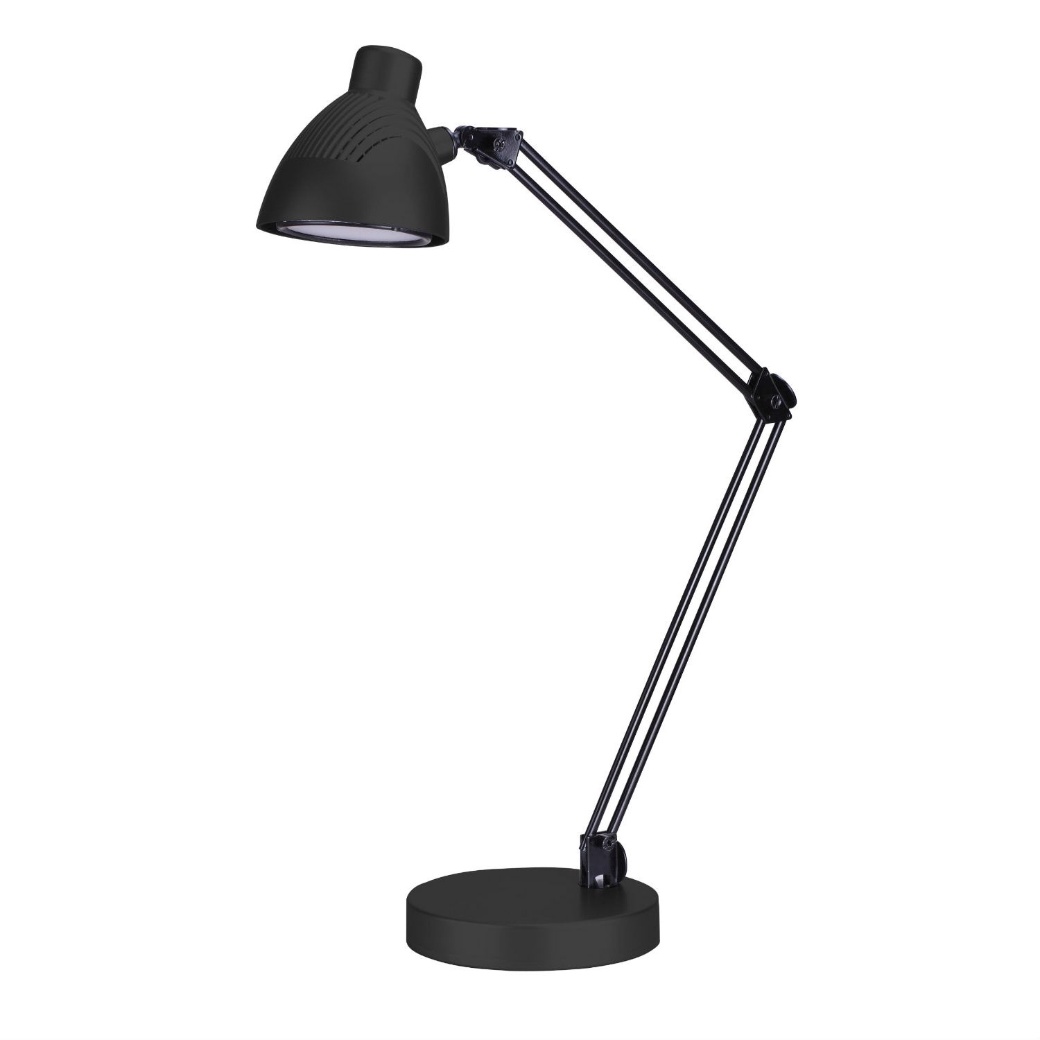 Perfect for professionals, students and instructors the Energy Efficient LED Architect Desk Lamp is engineered and designed to bring your desk or work area into the 21st century without breaking the bank. LED Lighting is the future of lighting as LED lights consume up to 90% less power while putting out the same amount of lumens (light). LEDs emit virtually no heat (due to their efficiency) hence no more sweating under your old inefficient desk lamp. This LED desk lamp glows at a very warm and soft 3,200K, maintains and on/off switch in the base and is ETL certified. Consuming less energy equals reduced power bills. It's time to start working or studying more efficiently. (Note: the bulb is not replaceable, but at 35,000 hour rated life run time, who cares!). NOTE: A 35,000 hour run time means at using this lamp 3 hours/day, it will last 11,666 days or about 32 years without needed to replace it!
