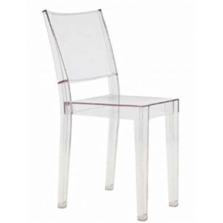 This Transparent Stacking Dining Chair for Indoors or Outdoors would be a great addition to your home. In spite of the evenescent and crystaline impression, strong resistant to blows, scratchproof and weatherproof; as many as six pieces can be piled up. With a strongly charismatic character and outstanding aesthetic appeal.