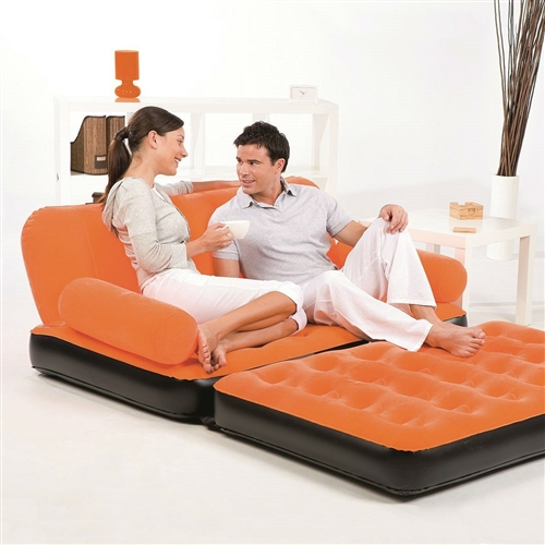 Perfect anywhere and super fast to set up. Orange Inflatable Indoor/Outdoor Muti Purpose Sofa Couch Bed Lounge w/ Air Pump.