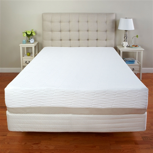 "This Full-size Medium Firm 11-inch Tri-Zone Latex Foam Mattress with Cotton Cover with Cotton Cover is a premium latex mattress at an affordable price. Environmentally friendly latex is very similar to memory foam, it conforms to your body's curves, aligning the spine during sleep. This helps alleviate pressure points and reduce tossing and turning, so you can have a more restful night's sleep and wake up feeling refreshed and greengerized. Latex bounces back into shape quicker than memory foam, so the feel of the mattress is slightly more firm and bouncy than memory foam. Latex foam is all natural and environmentally friendly; Mattress ships compressed for quick and easy delivery and setup; Made from 100% pure medium firm Belgium tri-zoned latex; Mattress include 7"" of the base foam; Fire retardant cotton fiber: FR detergents are N-Dimethoate ; Phosphorodithioic Acid Ester.; Mattress will work with an adjustable bed."