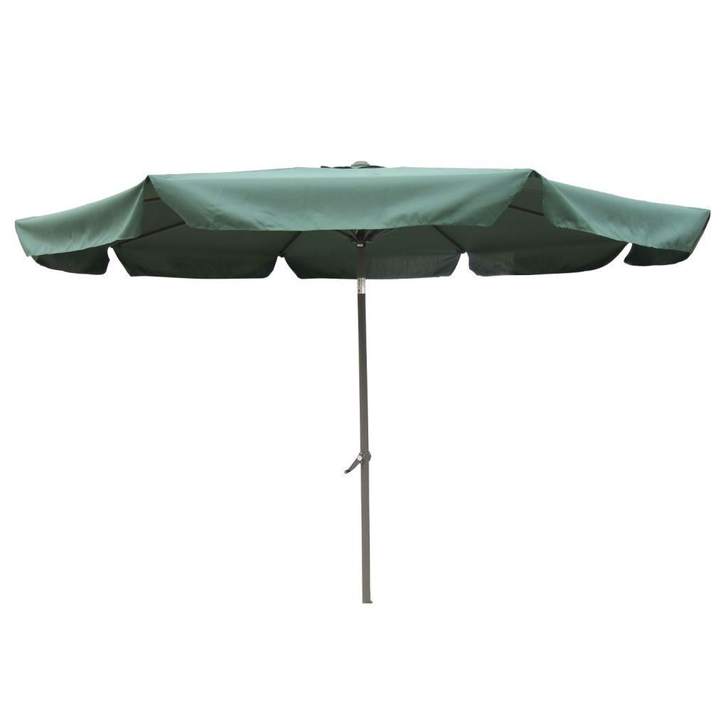 Forest Green 10-Foot Waterproof Drape Style Umbrella, FG10P7595 :  This Forest Green 10-Foot Waterproof Drape Style Umbrella would be a great addition to your home. It has an aluminum pole and waterproof canopy fabric. 8 rib canopy; Aluminum pole; Foldable and easy to move; Weather Resistant Details: Weatherproof polyester fabric; Umbrella Type: Drape; Pole Finish: Aluminum; Powder Coated Finish: Yes; Canopy Material: Polyester; Canopy Shape: Round; UV Resistant: Yes; Rust Resistant: Yes; Fade Resistant: Yes; Lift Method: Crank lift; Tilt: Yes.