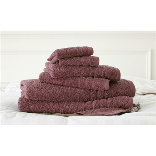 Rose Red Luxurious 6-Piece Bath Towel Set in Soft 100% Cotton, SPRT6518741 :  Indulge yourself in spa like luxury with this Rose Red Luxurious 6-Piece Bath Towel Set in Soft 100% Cotton. The set is made of cotton known for its softness, absorbency, and durability. These towels make an ideal complement to any bathroom whether you use it to pamper yourself or reserve it for special guests. Cotton fibers are valued for their superior length and strength, which also reduces the buildup of pile and lint. These towels will feel cozy and comfortable against your skin every time you use them. Additionally the towels get softer with washing and drying. Luxury and soft 100% cotton; Added absorbency and durability; Low-twist loops for soft texture; Pattern: Solid; Quick Dry: Yes; Recommended Cleaning Method: Machine wash; Fabric Weight: 500 Grams per Square Meter (GSM) [Fabric Weight]; Country of Manufacture: India.