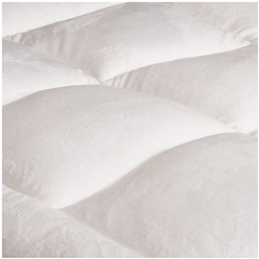 This Twin XL size Super Soft Microplush Mattress Pad - End-to-end Box Stitched would be a great addition to your home. Overfilled mattress pad with ultra soft micro plush fabric. Use as a mattress protector or a mattress topper. End to end box stitched with mitered border. Filled with 32-ounce polyester fiber. Available in Twin Extra Long.