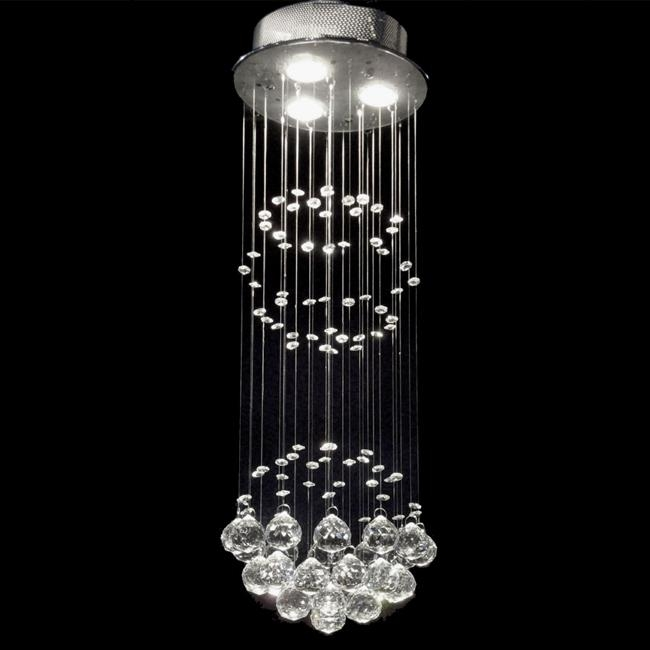 This Indoor 3-light Chrome/ Crystal Ball Chandelier features beautiful crystals balls that capture and reflect the light. Truly stunning, this chandelier is sure to lend a special atmosphere anywhere it is placed. This fixture does need to be hard wired. Professional installation is recommended.