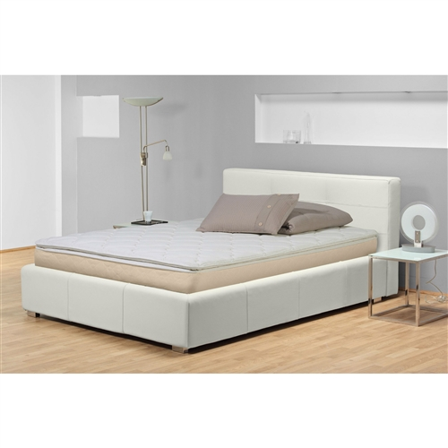 This Queen size 10-inch High Profile Pillow Top Innerspring Mattress - Plush will give you the rest you deserve. Its super-plush design contains a high-profile innerspring mattress that will give you the support you need and the softness you want. The mattress offers comfortable upholstery and a luxury-fabric wrap that'll make you never want to get out of bed. It also has a no-flip design that'll provide you with a single side designed to give your comfort and relaxation. With several sizes to choose from, you can find the right mattress to fit your needs.