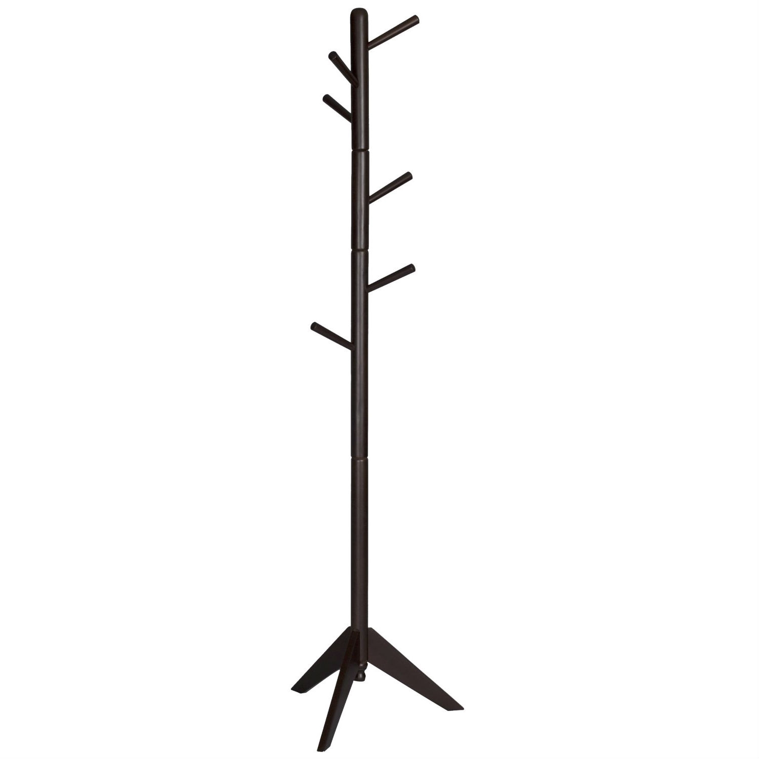 Espresso Wood Finish Coat Rack Entryway Hall Tree Hat Rack,  CMHTE35 :  This Espresso Wood Finish Coat Rack Entryway Hall Tree Hat Rack provides ample storage for coats and accessories. A 360 degree turning top provides easy access.