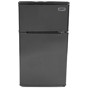 Perfect for workplace break rooms, dorm rooms, or an additional refrigerator for your entertainment space, this 3.1 Cubic Foot Energy Star Compact Refrigerator Freezer in Black Dry Erase can store both fresh or frozen food and beverages. The unit also comes finished with dry-erase doors and a neon marker that can be used on the fun and writeable surface which is easily wiped clean. This space-saving compact refrigerator/freezer is designed with a flat back, allowing it to fit cleanly against the wall or into corners. It comes with added enhancements such as a bottle and can storage compartment on door, low noise level, and adjustable thermostat.