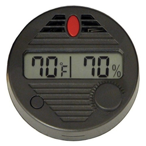 Digital Hygrometer for Humidors, QIHSDH1649 :  With this Digital Hygrometer for Humidors you will Never wonder if your digital hygrometer is accurate. The HygroSet II is the first digital hygrometer of its kind capable of being adjusted after calibration. Each click of the adjustment knob changes the humidity display (+ / -) by 1-percent. 10 Second refresh rate