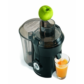 This Hamilton Beach Dishwasher Safe Juicer has a Extra-large pulp bin that lets you juice longer and add nutrient-rich pulp to any recipe. Also, all removable parts are dishwasher safe.