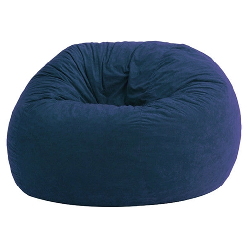 Bury yourself in this Large 4-Ft Memory Foam Bean Bag Chair in Sky Blue Suede - Made in USA to experience ultimate comfort. It features a soft filling that offers support as well as optimum comfort. The soft suede fabric covering of this bean bag not only feels soft to the skin, but also enhances the decor in your home, letting you choose the one that is best suited to match the color scheme in your home. The filling and the fabric covering of this chair make it long lasting. The Large 4-Ft Memory Foam Bean Bag Chair in Sky Blue Suede - Made in USA can be spot cleaned as and when required to maintain its original appearance for a long time.