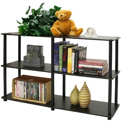This 3-Tier Storage Display Shelf/Rack Bookcase in Espresso/Black is designed to meet the demand of low cost but durable and efficient furniture. It is proven to be the most popular furniture due to its functionality, price, and the no hassle assembly. The materials comply with e1 grade particle board for furniture. There is no foul smell of chemicals, durable and it is the most stable particleboard used to make furniture. Care instructions: wipe clean with clean damped cloth. Avoid using harsh chemicals. We are pleased to send you the replacement part free of charge. Pictures are for illustration purpose. All decor items are not included in this offer. Pictures are for illustration purpose. All decor items are not included in this offer.