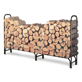 Outdoor 8ft Firewood Rack Wood Log Storage Sturdy Tubular Steel, LFLR52792 : Stop dreading that trip to the woodshed when you've got your wood neat and organized in this Outdoor 8ft Firewood Rack Wood Log Storage Sturdy Tubular Steel. The durable steel rack has a weatherproof finish, so it can hold up to even the coldest, wettest winter weather. It holds 2/3 face cord of wood, so you don't need to worry about leaving any of your firewood on the ground to rot. Assemble it right in your backyard, garage, or shed and make this the winter you finally use your fireplace on a regular basis.