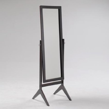 """Full Length Cheval Mirror in Espresso Finish, CMIEF69751 : Beautifully designed with its rich finish this Full Length Cheval Mirror in Espresso Finish can enhance any room decor. While its full length height makes it practical in use, Its beautiful design and craftsmanship is strong enough to support your decor. This cheval mirror measures 18.8"""" X 18"""" X 58.6""""H."""
