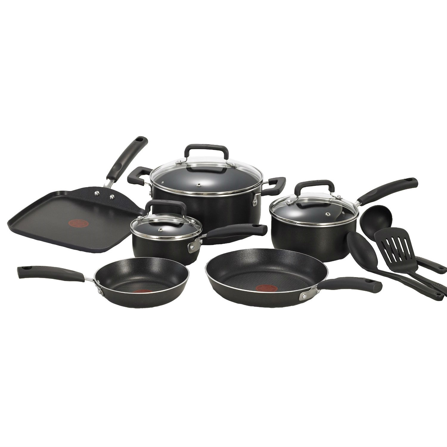 this 12piece nonstick dishwasher safe cookware set in black would be a great addition