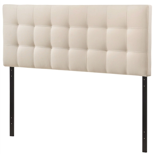 "Introduce some boxy pizazz with the lavish design of this Queen size Ivory Fabric Padded Mid-Century Upholstered Headboard. Intended to be versatile for a wide range of modern bed styles, it's deep button tufting, and carefully aligned trim, present a uniform piece meant to cast prominence upon your room. Fully upholstered in padded fabric, it has a narrow piece meant to convey a strong sense of expansiveness within your entire surroundings. Set Includes: One - Headboard Product Dimensions: Overall Product Dimensions: 3.5""L x 61.5""W x 22.5""H Bedframe Mounting Location: 4.5 - 8.5""H Mounting Location A - Height to Top of Headboard: 52.5""H Mounting Location A - Height to Bottom of Headboard: 30.5""H Mounting Location B - Height to Top of Headboard: 50""H Mounting Location B - Height to Bottom of Headboard: 28""H Mounting Location C - Height to Top of Headboard: 47.5""H Mounting Location C - Height to Bottom of Headboard: 25.5""H Mounting Location D - Height to Top of Headboard: 45""H Mounting Location D - Height to Bottom of Headboard: 23""H Floor to Top of Headboard: 45.5 - 53""H Floor to Bottom of Headboard: 23 - 30.5""H."