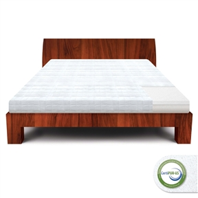 This California King size 8-inch Thick Memory Foam Mattress - 25-year Warranty has a firm feel, making it ideal for those who currently wake up with sleeping pains and need extra support. Lucid makes all of their foam using open cell construction. Their unique manufacturing process makes a softer, doughier foam that will quickly conform to your body weight and position. The open-cell construction also optimizes air flow to keep you cool and comfortable while you sleep. The memory foam will quickly contour to your natural pressure points, giving you proper support that will correctly align your spine and help relieve sleeping pains.