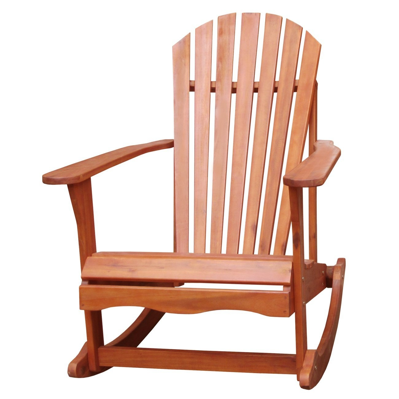 Solid Wood Adirondack Style Porch Rocker Rocking Chair,  ICAPCR169 :  Your home is a natural extension of you. Add this Solid Wood Adirondack Style Porch Rocker Rocking Chair to spruce up any décor. It is made from solid wood and has an oiled finish. RTA construction.