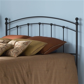 This King size Arched Metal Headboard in Matte Black Finish is a simply classic piece that will add understated elegance to any bedroom. The powder coated dark finish adds beautiful texture to the surface. The detailing of each rail adds to the lovely design of this piece. Frame Material Details: Steel; Assembly Required: Yes; CPSIA or CPSC Compliant: Yes; Finish: Matte Black; ISTA 3A Certified: Yes; Hardware Finish: Matte Black; General Conformity Certificate: Yes; Frame Material: Metal; Powder Coated Finish: Yes; Non-Toxic: Yes; Finished Back: Yes;  Frame Required: Yes; Drill Holes for Frame: Yes; Product Care: Wipe with a clean, damp cloth.