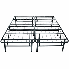 This Twin Extra Long Metal Platform Bed Frame with Storage Space is a solution to the limitations found in the traditional box spring. We listened and have provided you with increased support, portability, quick setup, and more under bed storage in our unique Twin Extra Long Metal Platform Bed Frame with Storage Space. The no-tools, no fuss Smart base with its patented design and 12 points of contact is your answer to comfort and easy assembly. Adding to the simplicity it also quickly attaches to your headboard and footboard when our custom brackets are purchased separately. Be a part of the next revolution in comfort and sleep, please leave a review and let us know about your experience with our products. No tools are required, assembles in minutes; Replaces bed frame and box spring; Easy to move and store