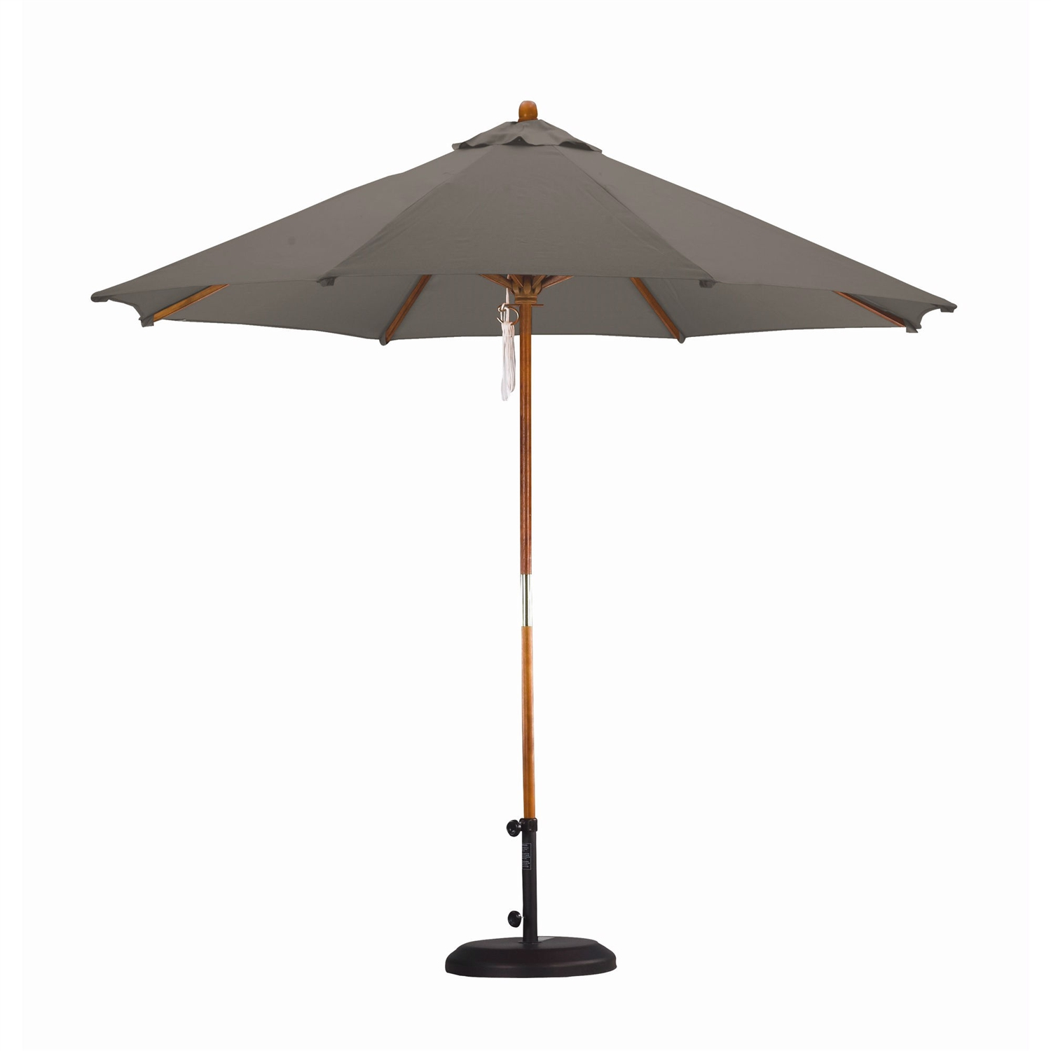 Taupe 9-FT Outdoor Market Umbrella with Taupe Color Canopy, TIUH56841 :  This Taupe 9-FT Outdoor Market Umbrella with Taupe Color Canopy would be a great addition to your home. It has a classic design with all wood and an aluminum frame.