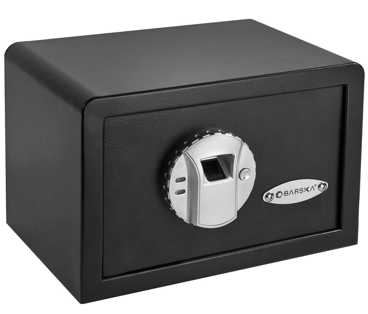 Fingerprint Access Gun Safe - Can be Mounted into Wall, BMBS17299 :  No combinations to remember or carry a key because your fingerprint is the key that opens the safe door of this Fingerprint Access Gun Safe - Can be Mounted into Wall! Up to 30 users, Store anything you want to keep hidden, Pre-drilled holes allow the safe to be mounted into a wall, onto a shelf or counter top, Emergency back-up keys included, Operates on 4 AA batteries, Dimensions: 12 x 8 x 7.75 Inner Dimensions: 11.5 x 7.5 x 5.75, Weight: 12 lbs, One-Year Limited Warranty. Can hold up to 30 fingerprints of registered users.