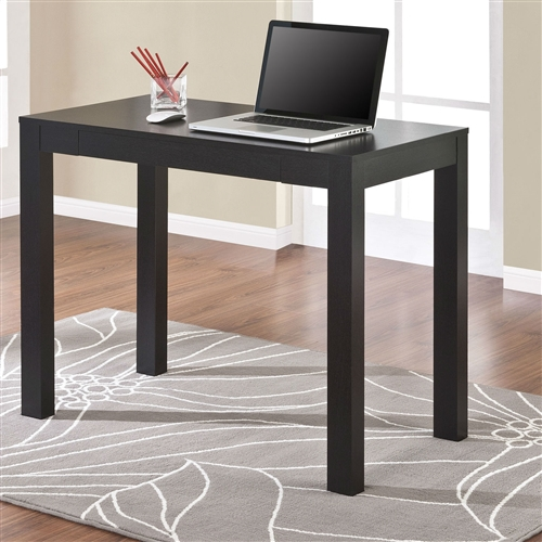 Add a dash of contemporary charm to your office or home with this Compact Home Office Student Dorm Laptop Computer Desk Writing Table in Black Oak Finish. It flaunts a compact design, which makes it suitable for small homes. This Compact Home Office Student Dorm Laptop Computer Desk Writing Table in Black Oak Finish is made of wood, which ensures strength and durability. It has a sleek, black finish, which suits most color schemes and home decors. It is minimalist, making the room it is kept in look aesthetically less cluttered. The desk offers a large work surface, which is ideal for writing, using your laptop, studying, or handcrafting. A pullout drawer gives you room to store your writing accessories. It is a great way to maximize space of any room. It is just the right size to put in any room of your home. It is a wonderful blend of form and functionality. It is designed keeping comfort and ease of use in mind. It is a versatile and stylish addition to any room in your home. You can wipe this writing desk with a dry cloth to keep it clean. It is manufactured by Altra, which has been dedicated to creating beautiful furniture that is fun and environmentally responsible.