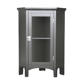 Dark Espresso Corner Bathroom Floor Cabinet Table with Glass Doors, EME10371 :  This Dark Espresso Corner Bathroom Floor Cabinet Table with Glass Doors would be a great addition to your home. Matching floor cabinet, corner floor cabinet, corner wall cabinet, double floor cabinet, medicine cabinet, and wall cabinet also available. Made from MDF; Easily coordinate with any decor.