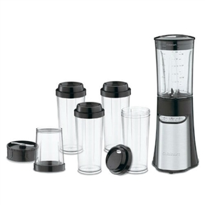 Meet this 15-Piece Compact Portable Personal Blender Food Chopper in Black – the slim and trim powerhouse that does it all! Use the streamlined blender jar to make smoothies in a flash! Mince herbs in the chopping cup and whip up custom drinks right in the travel cups – we've included four of them so everyone can have their favorite! Designed to fit anywhere, the Compact Portable Blending/ Chopping System delivers big-blender performance, with a 350-watt motor and the ease of single-hand operation with the user-friendly electronic touchpad! Stainless steel accents create an attractive, fashionable addition to any kitchen. New BPA free Tritan co-polyestor is used for the all vessels – blender jar, chopping cup and your travel cups. They are all shatter resistant and dishwasher safe. A real timesaver, cleanup and maintenance become simple chores.