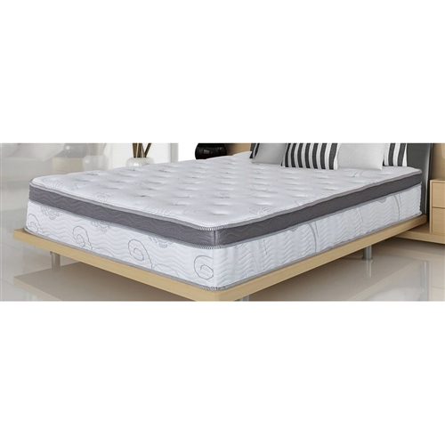This Full Luxurious 13-inch Innerspring & Gel Infused Memory Foam Mattress is designed to satisfy the need for contoured support of your vertebrae while you sleep. We owe this luxury to the tempered steel independently-encased coils whose particularity is to conform to the curves of your body creating an equal weight distribution, hence relieving any pressure points along your neck, shoulders, back and hips. Another advantage of independently-encased coils is the elimination of motion disturbance, so that if your partner moves throughout the night, you will never even know they are there. To ensure that this mattress lasts many years, its coils are protected by multi HD and memory foam layers which add to unparalleled quality and incredible comfort.