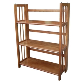 This 3-Shelf Folding Storage Shelves Bookcase in Honey Oak Finish would be a great addition to your home. It has a classic styling and there is no assembly required.