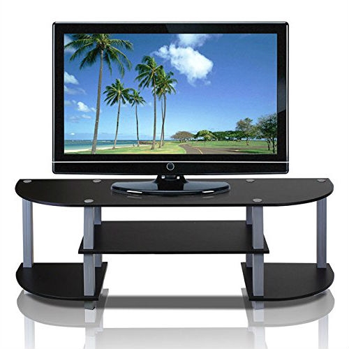 This Contemporary Grey and Black TV Stand - Fits up to 42-inch TV design's motto is: fits in your space and fits on your budget. This series of the product consists of the following features: (1) Unique Structure: Open display rack, shelves provide easy storage and display of TV or other audio/video accessories. Suitable for any rooms. Designed to meet the demand of low cost but durable and efficient furniture. (2) Smart Design: Easy Assembly and No tools required. A smart design that uses durable recycled PVC tubes and engineered particleboard that withstands heavyweight. Just repeat the twist, turn and stack mechanism and the whole unit can be assembled within 10 minutes. Experience the fun of D-I-Y, even with your kids. (3) The Particleboard is manufactured in Malaysia and comply with the green rules of production. There is no foul smell, durable and the material is the most stable amongst the particleboards. The PVC tube is made from recycled plastic and is tested for its durability. All the products are produced and assembled 100-percent in Malaysia with 95% - 100% recycled materials. Care instructions: wipe clean with a clean damped cloth. Avoid using harsh chemicals. Pictures are for illustration purpose. All decor items are not included in this offer.