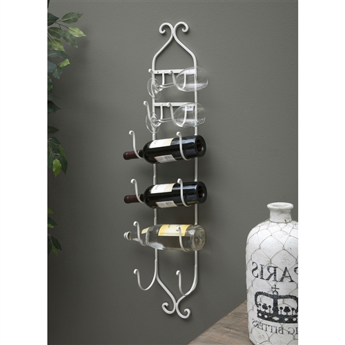 Double duty function, this Modern White Metal Wall Mounted Wine Rack can be used to display your collection of fine wines, or a creative storage and display of hand and bath towels.