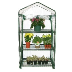 3-Tier Plastic Growing Rack Planter Stand Greenhouse with Thermal Cover , JAGREEN88312 :  This 3-Tier Plastic Growing Rack Planter Stand Greenhouse with Thermal Cover is an ideal greenhouse for the urban gardener, beginner, or hobbyist. It's a convenient size for the deck or patio but has ample space to keep plants. The thermal cover creates the optimal growing conditions for plants offering year-round protection with annuals, perennials, vegetables, and delicate plants. Ideal for extending the growing season; With UV-treated plastic cover to accommodate any climate; Interlock components; Strength and durability; Steel mesh shelving provides ideal drainage and air circulation; Powder-coated steel frame construction.