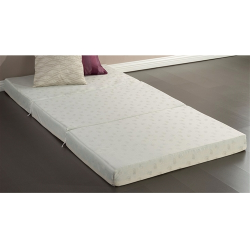 This Twin size 4-inch Thick Memory Foam Guest Bed Mat Folding Mattress is comfortable and convenient. Easy to transport and store with three foam layers that work together for maximum comfort. Please open your package within 72 hours of receipt and allow 48 hours for your new mat to return to its original, plush shape. Worry free 1 year limited warranty. Another comfort innovation from Zinus. Pioneering comfort.