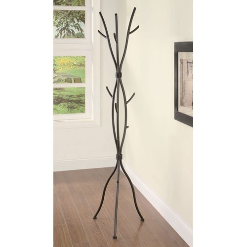 Metal Tree Branch Style Coat Rack with Multiple Hooks in Brown, CTBCR5802 :  This Metal Tree Branch Style Coat Rack with Multiple Hooks in Brown does not even appear to look like a coat rack, but rather is shaped to resemble a small bundle of branches. This natural looking Coat Rack will add a unique style to your home decor. Add a touch of nature to your room with this branch style metal coat rack. Features a brown wood-like finish.