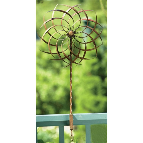 "Handcrafted Copper Plated Ornamental Outdoor Garden Wind Spinner Pin-wheel, AGHEY8598157 :  This Handcrafted Copper Plated Ornamental Outdoor Garden Wind Spinner Pin-wheel will add a decorative element to your garden. In order to maximize the spinning capability of this ornament, be sure that it is properly positioned in an area that gets plenty of wind. The parts of the Pinwheel Deck Design can also be ""rearranged"" to amplify its spinning."
