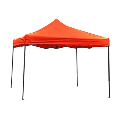 Red 10-Ft x 10-Ft Outdoor Sun Shade Canopy Tent with Sturdy Metal Frame, RGCT848416 :  Bring home this Red 10-Ft x 10-Ft Outdoor Sun Shade Canopy Tent with Sturdy Metal Frame that provides sufficient shade outdoors. This square shaped canopy can be used at the beach or even during sport events. It can be used in the sun as it blocks 99% UV rays with great ease. The Red 10-Ft x 10-Ft Outdoor Sun Shade Canopy Tent with Sturdy Metal Frame is made from premium quality materials. The frame of this canopy has four slanted legs that give it a sturdy and reliable foundation. It is available in a number of colors, which gives you the liberty to choose the best one to match your outdoor decor. The cover of this canopy is made from fabric. It has a peaked shaped top that adds to its design. This pop-up canopy can be installed in no time as it has an instant pop-up design. As it is lightweight, it becomes easy to pack and transport the canopy from one place to another. You can use it for various outdoor events and can also decorate it to suit your preference. It can be dusted at regular intervals to get rid of the dust. It is easy to care and maintain this canopy in the long run. Materials are fire retardant and the cover is waterproof; Coverage Area: 100 sf. ft.; Base Sold Separately; Manufacturer provides a 1 year warranty; Frame Included: Yes; Product Type: Beach Tent Canopy; Sports Canopy; Shape: Square; Cover Color: 2: Blue;; Cover Color: 3: Green.