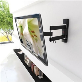 This Adjustable Wall Mount TV Stand Bracket for up to 40-inch TV would be a great addition to your home. Also, it is easy to install and comes with a one year warranty. Up to 180 degree swivel action; Tilts up to -5 degree/+15 degree; Easy to install; Assembly required.