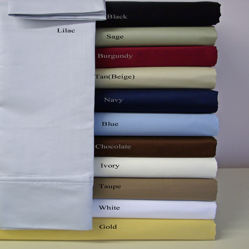 """Royal Tradition. Super soft & Wrinkle Free Microfiber Sheet Set:  Bedtime has never been so inviting. Make your bed without draining your wallet and take your pick of a Twin, Full, Queen, King or California King-sized microfiber sheet set from Egyptian Linens. Each hotel collection, wrinkle-free set comes with a flat sheet, a fitted sheet and two pillow cases (Twin-sized comes with one pillow case).  These sheets come in a rainbow of 11 colors and have deep pockets to fit most mattress sizes. Save big on some super awesome sheets with today's specail deal and also get FREE SHIPPING. * Wrinkle-free, stain resistant, hypoallergenic, and resistant to dust mites hotel collection microfiber sheet set. * Easy care - machine wash, tumble dry. Fully elasticized fitted sheet guarantees a secure fit for mattress depths from 10""""-18""""."""