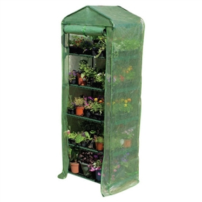 5-Tier Sturdy Growing Rack Planter Stand Greenhouse with Reinforced Cover, JAGREEN88313:  This 5-Tier Sturdy Growing Rack Planter Stand Greenhouse with Reinforced Cover is an ideal greenhouse for the urban gardener, beginner, or hobbyist. It's a convenient size for the deck or patio but has ample space to keep plants. The reinforced cover creates the optimal growing conditions for plants offering year-round protection with annuals, perennials, vegetables, and delicate plants. Frame Material: Steel; Panel Material: Plastic; Year-Round Use: Yes; Installation: Freestanding; Ventilation: Yes; Doors Included; Number of Doors: 1; Lockable Door: No.