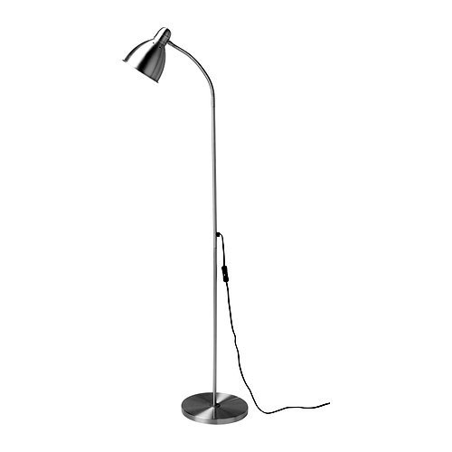 Aluminum Floor Lamp / Reading Light with Flexible Arm, ILRL3291 :  This Aluminum Floor Lamp / Reading Light with Flexible Arm would be a great addition to your home. It has a silver color and is made of aluminum and steel. Makes it easy to direct the light according to need; Directed light; Gives a good concentrated beam of light for reading; Base plate: Clear lacquer, Shade/ Tube: Aluminum, Clear lacquer; Color silver; Style Manual.
