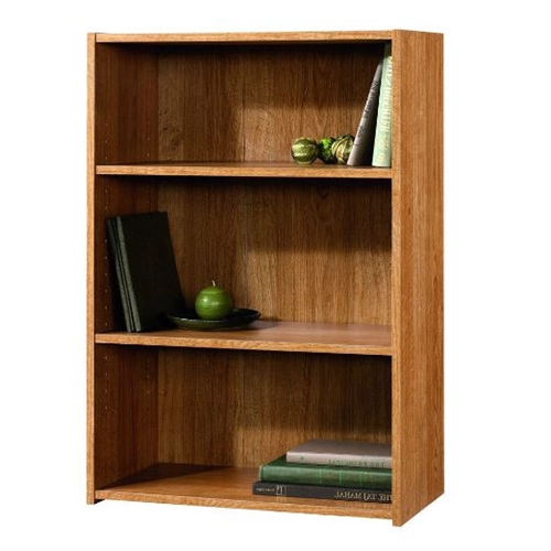 This Modern Oak Finish 3-Shelf Bookcase with 2 Adjustable Shelves - Made in USA includes adjustable shelves .Enclosed back panel .Made in USA.This Product is of high Quality.A must buy Product.