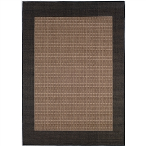 5'3 x 7'6 Indoor Outdoor Checkered Black Brown Cocoa Area Rug, RIOR516551 :  Distinctively designed to complement the simple yet classic styling of this 5'3 x 7'6 Indoor Outdoor Checkered Black Brown Cocoa Area Rug, uniquely colored to make stone entryways and patio decks warmer and more inviting. The naturally inspired color palette offered in this versatile collection features a series of unique combinations of natural hues that have been selected to complement today's hottest outdoor home furnishings. Including runners and special shapes in the form of rounds and squares. Mold/Mildew Resistant; Construction: Machine made.