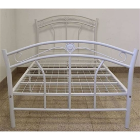 Add elegance and grace to your bedroom with this Twin size Metal Platform Bed with Headboard & Footboard in White. This bed features a contemporary style and can complement any room decor. With its strong and sturdy metal framework, this twin metal bed is sure to last for years. Intricately designed to perfection and given a glossy finish, this metal bed sets a benchmark in comfort.Beautifully crafted, this bed will spruce up any bedroom with its fine coating and deluxe accents. This metal bed has a classic look and the metal benders unveil a posh design. Intensify the appearance of your bedroom decor with this twin metal bed that comes in four different color finishes. This bed comes complete with a headboard, footboard, rails, and 7 leg supports. It is easy to install and efficiently saves time and effort.Sleek and compact, this twin metal bed is the perfect choice to enhance any bedroom. The overall dimensions of this fine-looking metal bed are 35'' height, 39'' width, and 74.5'' depth. It accommodates a standard twin size mattress and does not need a box spring. With its fine make, the bed offers a cozy sleeping environment to your entire family. Strong and beautiful, this twin metal bed is a great asset in your modern day home.